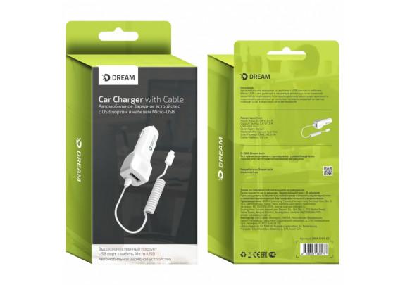 Заряд.устр. DREAM DRM-CH11-03 Micro USB+1USB