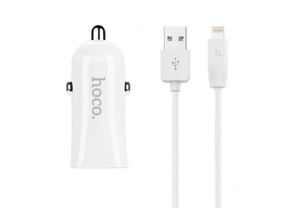 Адаптер HOCO Z12 2USB 2.4А+ кабель iPhone 5-8