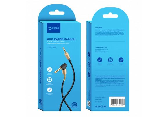 Аудио-кабель JACK  3,5мм Dream AX03/2м/угловой