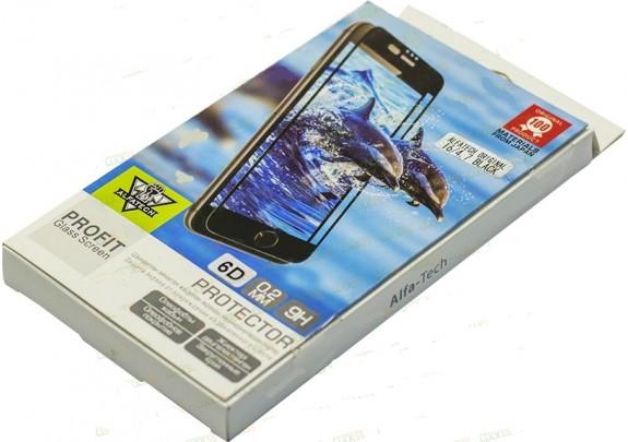 Защитное стекло iPhone 6 4D black