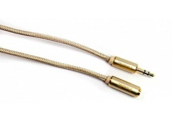 Аудио-кабель JACK  3,5мм HAVIT HV-CB607X/1м/золото