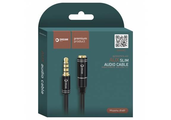 Аудио-кабель JACK  3,5мм DREAM JD457/черный/1м
