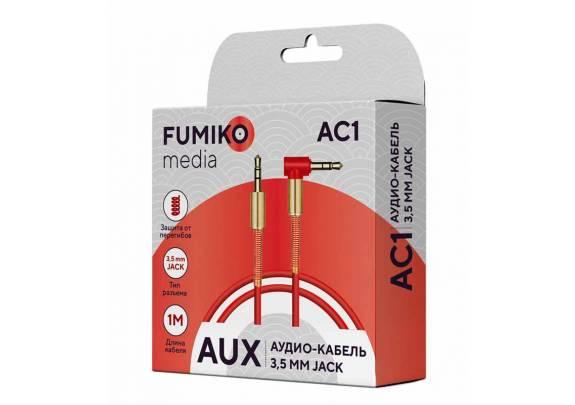 Аудио-кабель JACK  3,5мм FUMIKO AC1/красный/1м