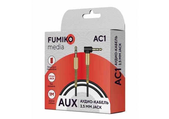 Аудио-кабель JACK  3,5мм FUMIKO AC1/черный/1м