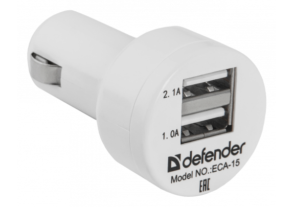 Адаптер DEFENDER ECA-15 2USB 5V/2А