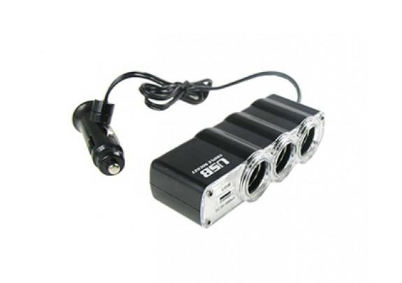 Разветвитель WF-0120 500mA/USB/3АЗУ