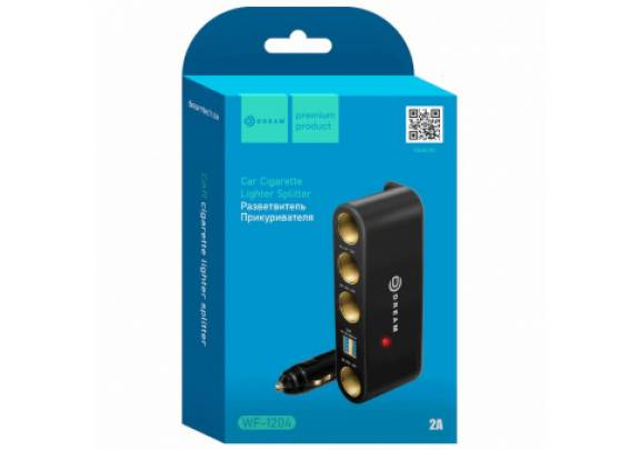 Разветвитель DREAM WF-1204 2USB 4 АЗУ 2А