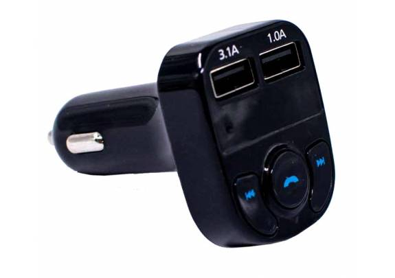 Трансмиттер FM A-22 Bluetooth черный