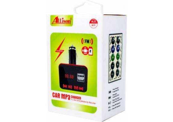 Трансмиттер FM A-11 Bluetooth черный