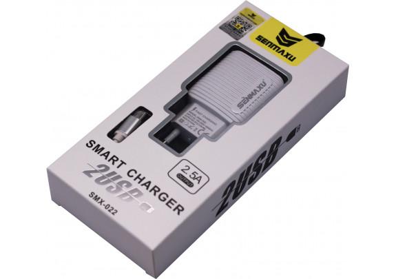 Зарядное устр. SENMAXU SMX-022 MicroUSB/2USB/2.5A
