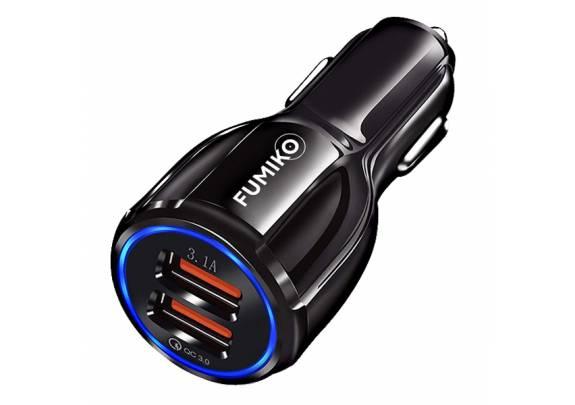 Заряд.устр. FUMIKO CC02 QC3.0/2USB 3А