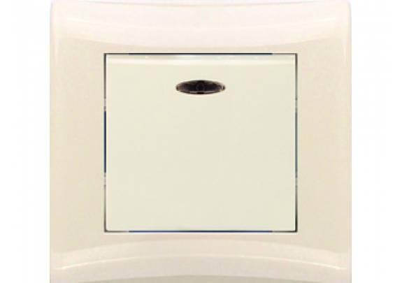 Выключатель 1-кл Magenta V01-12-V12-S крем/инд/в