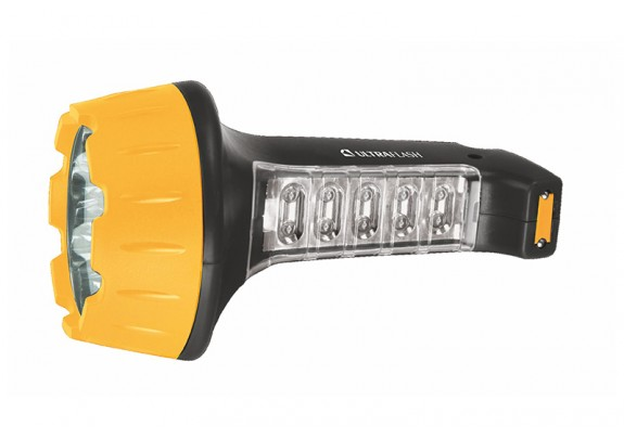 Фонарь Ultra Flash LED3819 акк/220В/15+10LED/2режи