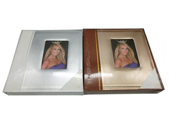 фотоальбом Supper магн.20л. 31505-20  кожа/окно