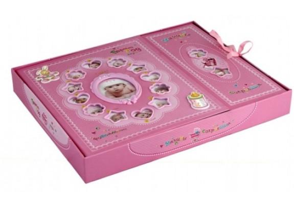 """набор альбом  """"Мамины сокровища"""" розовый"""