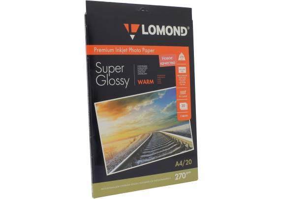 Lomond A4 270г/м2  20л суперглянцевая Warm 1106101