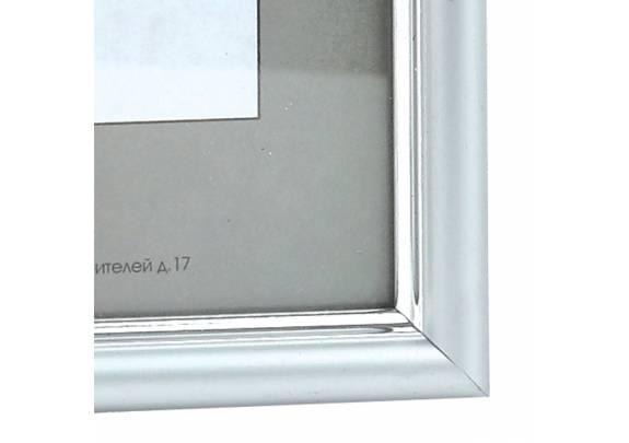 пластик 21х30  590/1 матовое серебро