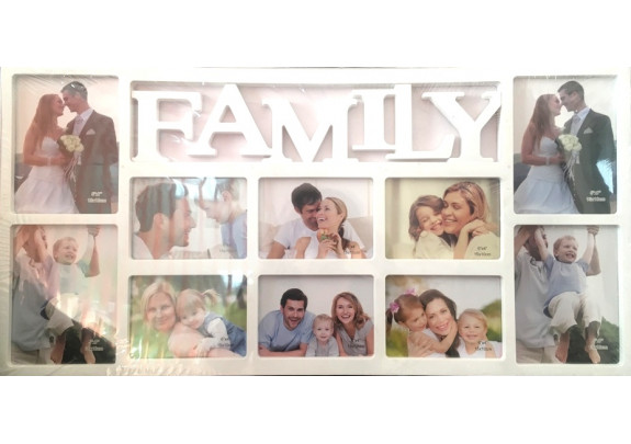 фоторамка Supper 8801-F 10фото/FAMILY/белая