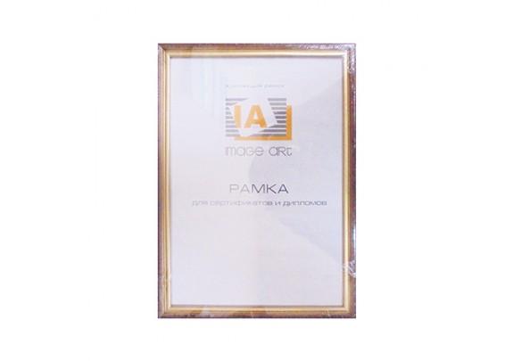 фоторамка IA 21x30  C15 махагон/ золото/сосна