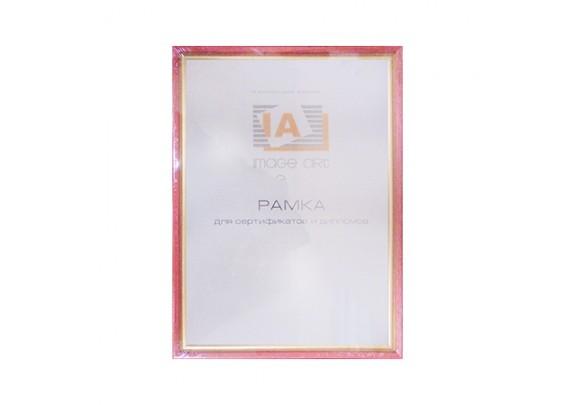 фоторамка IA 21x30  C15 алая/ золото