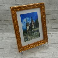 фоторамка Багет F 10x15  Яблоневый сад/золото