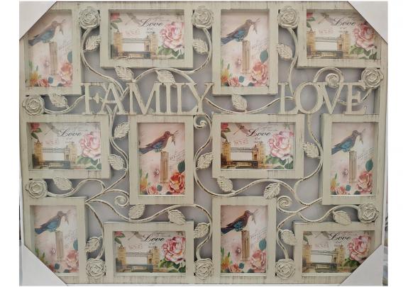 фоторамка Supper Y3328WB  12фото/FAMILY&LOVE/беж