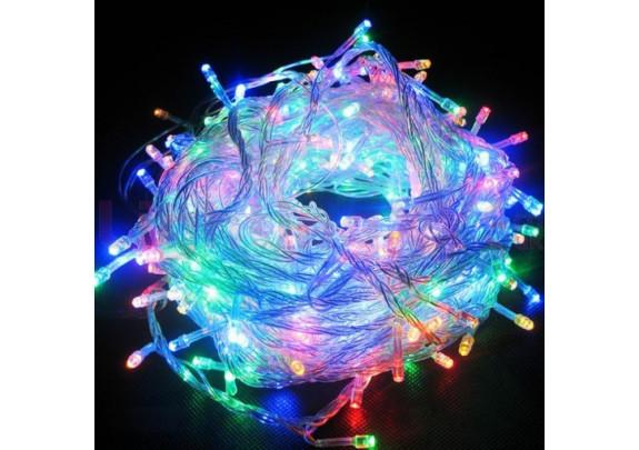 Электрогирлянда 100 LED CD-006 /бел. кабель/ 6м