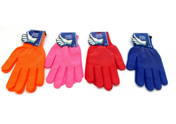 Перчатки PD003-1 трикотаж/цветные/размер M/L