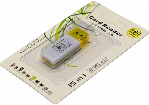 Картридер LD410 15 in 1 USB2.0/1.1