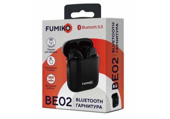 Наушники беспроводные TWS FUMIKO BE02 /черн