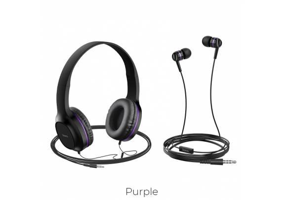 Наушники HOCO W24 фиолетовый/полноразмерные