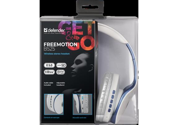 Наушники DEFENDER FreeMotion B525 гарнитура б/пров