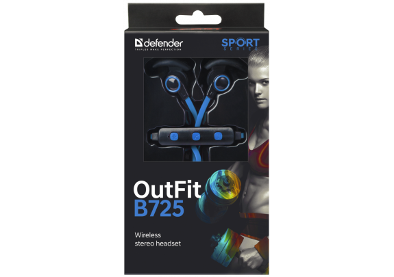 Стерео-гарнитура DEFENDER B725 Bluetooth/черно-син