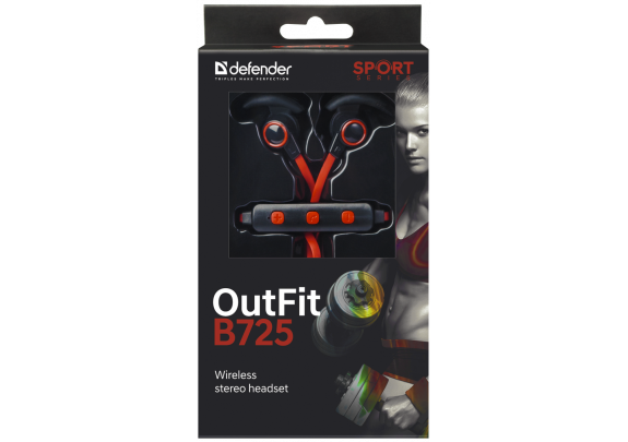 Стерео-гарнитура DEFENDER B725 Bluetooth/черн-крас