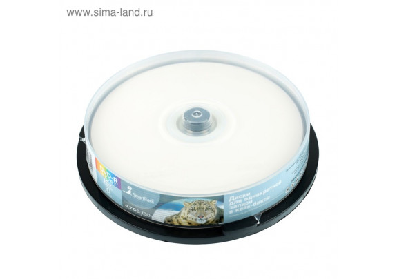 DVD-R Smart Track 4.7Gb/16x Inkjet/Cake/10шт