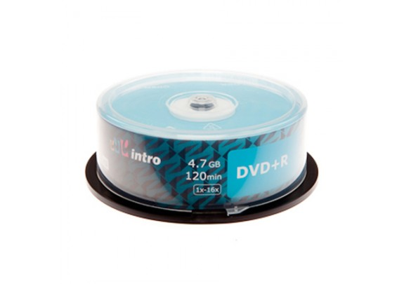 DVD-R Intro 4.7Gb. /16x/Shrink/25 шт