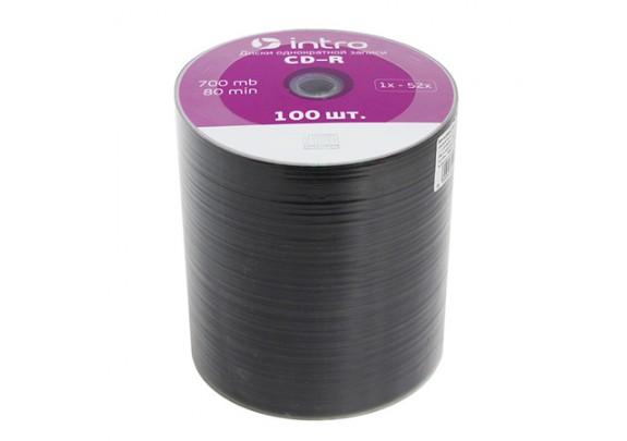 диск DVD+R Intro 700 Mb/52x/Bl/Print/100шт