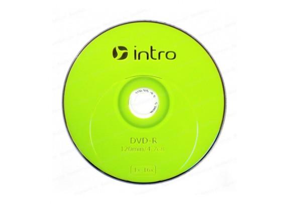 диск DVD-R Intro 700 Mb/52x/Bl/Print/100шт