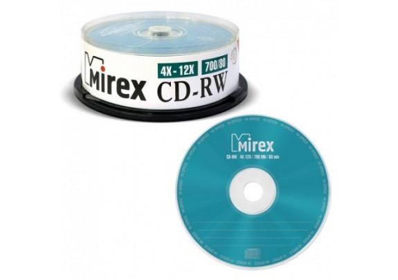 CD-RW Mirex 700 Mb/4-12x/Cake/50шт