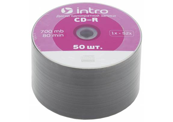 диск CD-R Intro 700 Mb/52x/Shrink/50шт