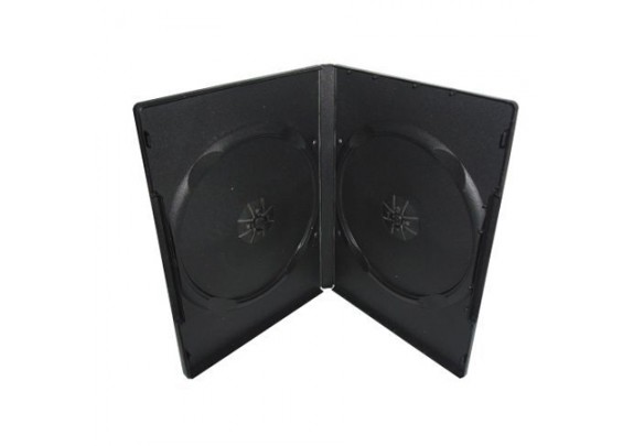 Коробка DVD ДВОЙНОЙ черный 7мм