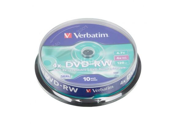 диск CD-RW INTRO 4-12x/Cake/700MB/10шт