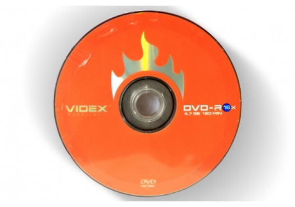 DVD-R VIDEX 4.7Gb/16x/Bl/Print/50шт