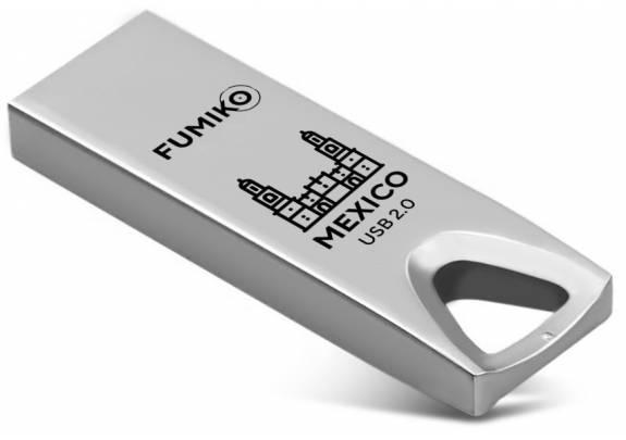 Флэш-драйв FUMIKO 16GB MEXICO  Silver/металл