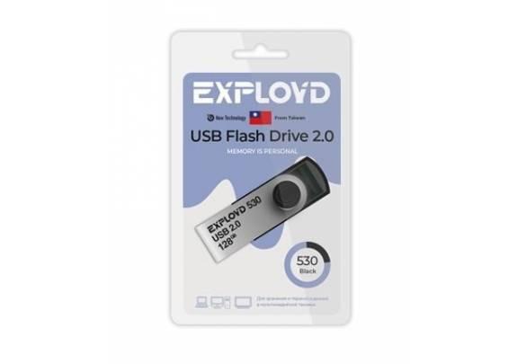 Флэш-драйв Exployd 128GB синий 530