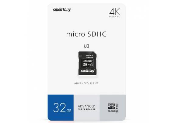 Карта памяти SDmicro 32Gb СL10ад Smart UHS-I U3 70