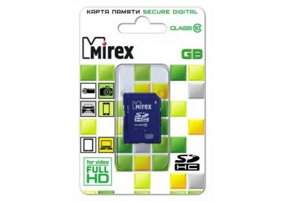 Карта памяти SDHC 16GB СL10 Mirex