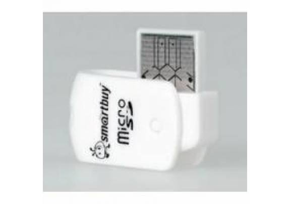 Картридер Smartbuy MicroSD, белый (SBR-706-W) 1/20