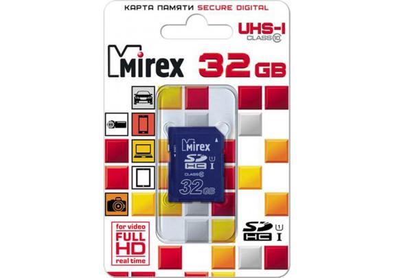 Карта памяти SDHC 32GB СL10 UHS-I Mirex