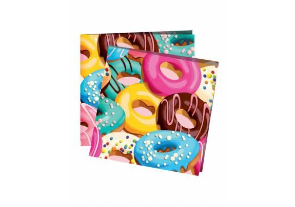 Коллекция Пончики Салфетки 24*24см /12шт